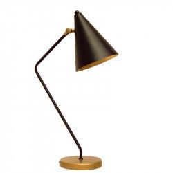 Lámpara flexo retro, estructura metálica en acabado negro mate, 1 luz, con pantalla metálica orientable.