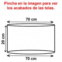 Pantalla cilíndrica para lámpara ó sobremesa, para portalámparas E27, armazón metálico, pantalla Ø 70 cm