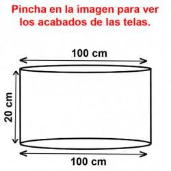 Pantalla cilíndrica para lámpara ó sobremesa, para portalámparas E27, armazón metálico, pantalla Ø 100 cm