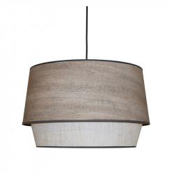 Lámpara de techo colgante moderno, pendel de plástico negro, 1 luz, con pantalla Ø 45 cm doble.