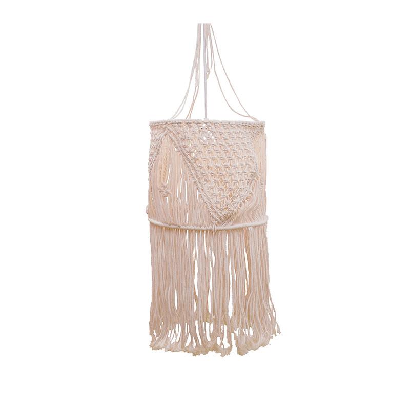 Lámpara de techo colgante, Serie Ketzal, 1 luz, pantalla de tela Ø 30 cm de tela (hecho a mano).
