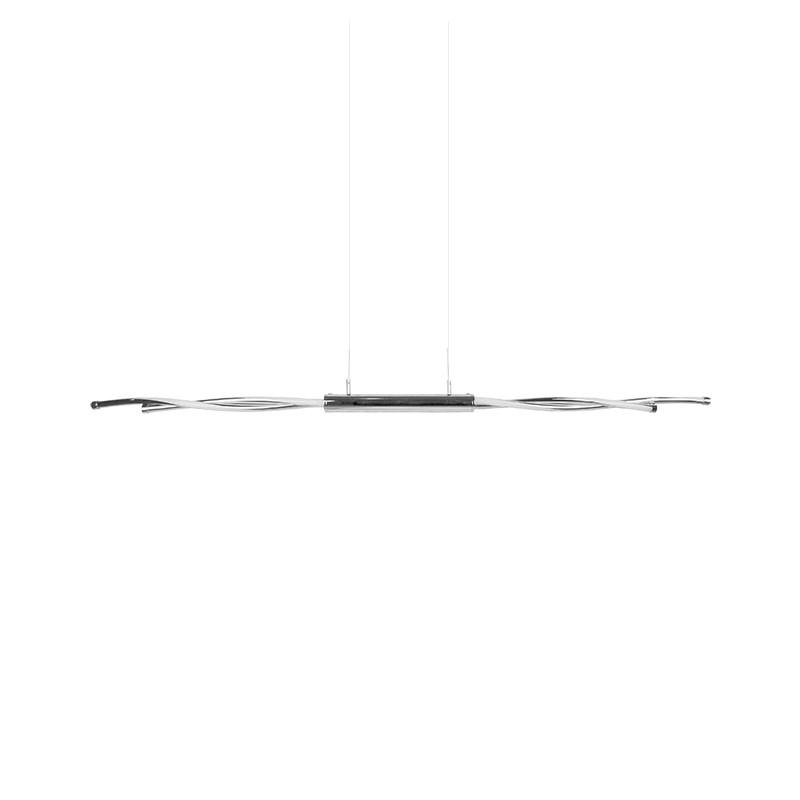 Lámpara de techo LED, Serie Roler, armazón metálico y acrílico en acabado cromo, iluminación LED integrada, 20W.