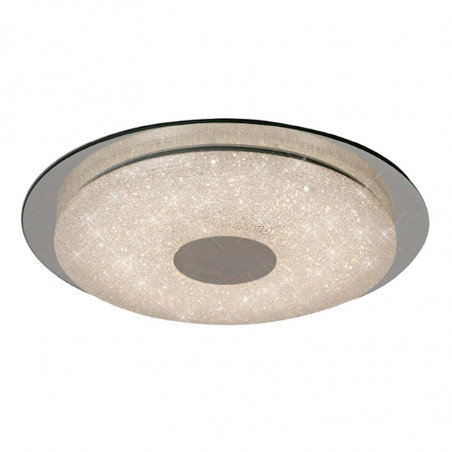 Lámpara de techo plafón LED, Serie París, armazón metálico y acrílico, iluminación LED integrada, 18W.