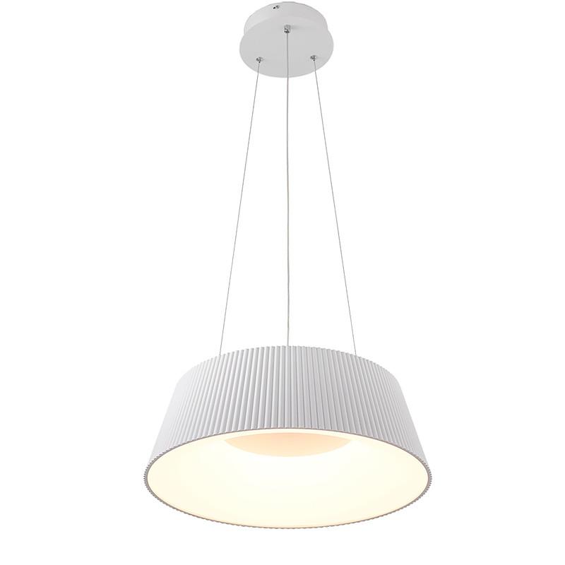 Lámpara de techo colgante, Serie Kapsul, armazón metálico en acabado blanco, LED integrado 36W 3.000lm 4.000K.