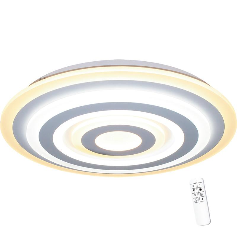 Lámpara plafón LED, Serie Tod 50, armazón metálico y acrílico, LED integrado 60W 4.500lm 3.000K-6.500K, regulable