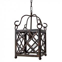 Lámpara Farol de forja, estructura metálica en varios acabados, 1 luz.