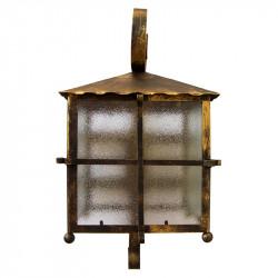 Aplique de pared, estructura metálica en varios acabados, 1 luz, con cristales traslucidos.