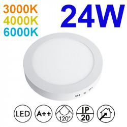 Plafón redondo LED, armazón de aluminio en acabado blanco, con difusor acrílico, 124W 2.280lm 3.000K, 4.000K o 6.000K, 120º