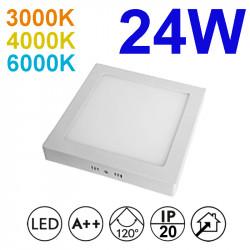 Plafón redondo LED, armazón de aluminio en acabado blanco, con difusor acrílico, 24W 2.280lm 3.000K, 4.000K o 6.000K, 120º