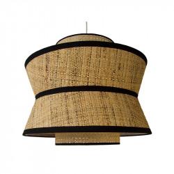 Lámpara de techo, Serie Toledo, con pendel en acabado negro, 1 luz, con pantalla triple Ø 40 cm
