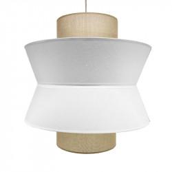 Lámpara de techo, Serie Toledo, con pendel en acabado blanco, 1 luz, con pantalla triple Ø 40 cm