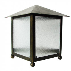 Aplique de pared, estructura metálica en varios acabados, 1 luz, 2 caras con cristales traslucidos.