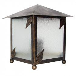 Aplique de pared, estructura metálica en varios acabados, con elementos decorativos de hojas, 1 luz, 2 caras